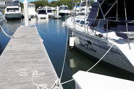 the boat s port side pictured here has a bow line forward and aft spring lines and a stern line all attached to cleats it s a good mooring job