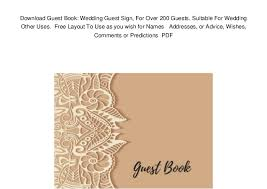 Guest Sign Book Download Guest Book Wedding Guest Sign For Over 200 Guests Suitabl