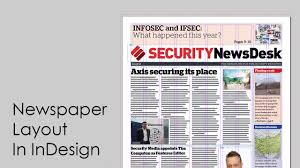 Creative Newspaper Template How To Design A Newspaper Newspaper Layout In Indesign