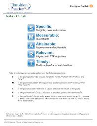 Smart Goals Template Nursing Smart Goals Templates At Allbusinesstemplates Com