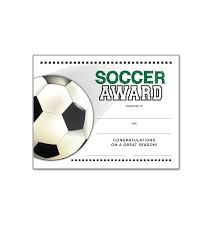 soccer awards templates soccer end of season award certificate free download misc crafts