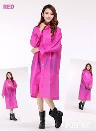fashion eva women raincoat thickened m l xl waterproof rain coat women clear transpa raincoat 5