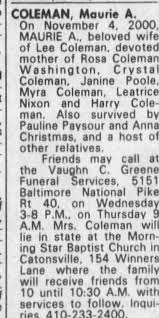 Obituary for Maurie A. COLEMAN - Newspapers.com