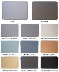 Acp Colour Chart Hot Item Aluminium Composite Panel Color Chart