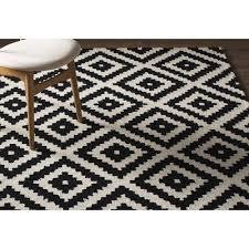 black and cream rug. Mercury Rowu0026reg; Obadiah Hand-Tufted Black/Cream Area Rug Black And Cream