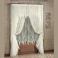 old fashioned window shades lace curtains touch of class wisteria arbor treatments