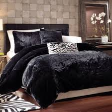 46 best Faux Fur Duvet cover images on Pinterest   Leopard prints ... & Black Panther Faux Fur Duvet Cover Set - Bed Bath & Beyond Adamdwight.com