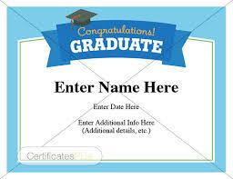 High School Graduation Congratulations Letter Graduation Certificate