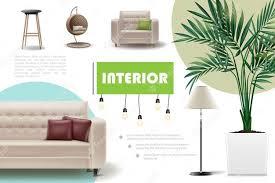 free vector realistic home interior