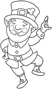 Small Picture Cute Leprechaun Coloring Page Ireland Pinterest Saints