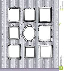 blank frames on wallpaper royalty free stock images  image