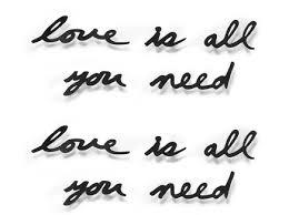 """<b>Надпись декоративная</b> """"<b>love is</b> all you need"""" (Umbra) черный ..."""