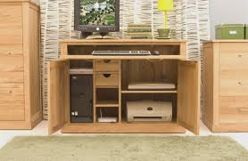 baumhaus mobel solid oak large hidden mobel oak hidden home office5 baumhaus mobel solid oak printer