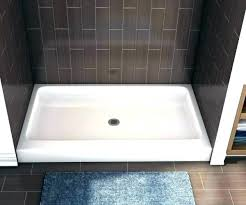 5 ft shower pan foot medium size of garage base how to install a hotel booking shower pan
