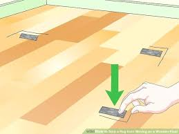 how to keep a throw rug from moving on carpet image titled stop a rug from