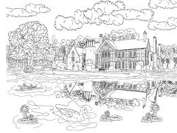 Realistic Nature Coloring Pages Best Adult To Print With Regard For