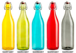 swing top bottles in assorted colors