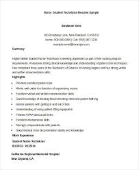 Student Nurse Resume Template Awesome Nursing Student Resume Example 28 Free Word PDF Documents