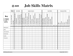 Skill Matrix Template Excel Project Management Templates