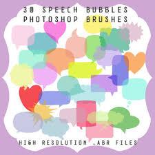 Photoshop Speech Bubble Photoshop Brushes 30 Speech Bubbles