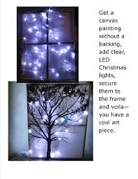 Led Lighted Canvas Painting Canvas Painting Christmas Lights Awesome Diy Canvas