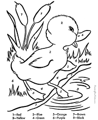Small Picture Easy Color By Numbers Coloring Pages GetColoringPagescom