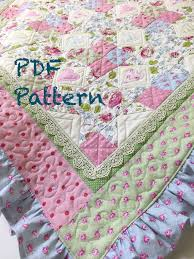 Baby Quilt Patterns Adorable Ruffle Baby Quilt Pattern Lace Quilt Pattern Baby Blanket Etsy