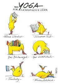 Peter Gaymann Postkarte Yoga Für Leserinnen Und Leser Drawings And