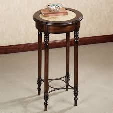 well liked round high foyer table with four legs as small space living room furniture decors
