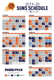 2019 20_suns_schedule Jpg Phoenix Suns