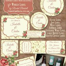 Wedding Label Templates Free Wedding Label Templates For Favors And More
