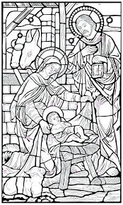 Stained Glass Coloring Coloring Pages Of The Nativity Nativity