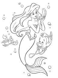 Tranh tô màu nàng tiên cá xinh đẹp cho bé từ 3-8 tuổi