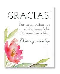 Flores Acuarela Agradecimiento Festivatarjetas