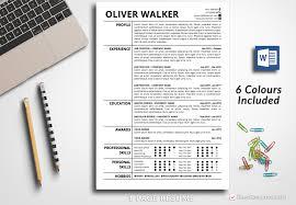 Resume Template Oliver Walker Bestresumes