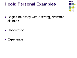 writing a good introductory paragraph what is the purpose of the  5 hook personal examples begins an essay a strong dramatic situation observation experience