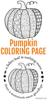 Free printable harvest pumpkin coloring page for fall. Pumpkin Coloring Page Printable Finding Zest