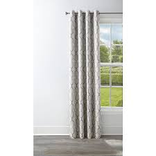 style selections amhurst 84 in ash polyester grommet blackout thermal lined single curtain panel