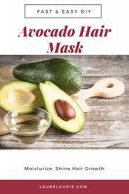 diy avocado deep conditioning hair mask