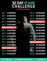 30 Day Plank Challenge Fitness 30 Day Workout Challenge