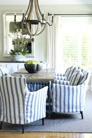 blue dining room chair covers casual blue white ticking dining slipcovers dining room chair covers duck