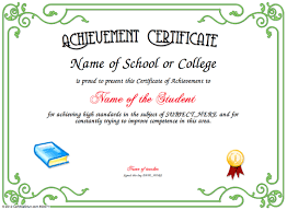 Printable Achievement Certificates Printable Certificates Of Achievement Student Download Them Or Print