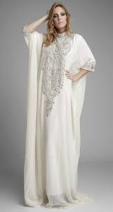 Aliexpress Com Buy Abaya In Dubai White Chiffon Crystal Beading