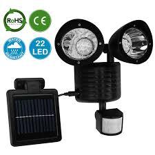 AMOS 22 LED Solar Powered PIR Motion Sensor Security Light Garden Solar Sensor Security Light