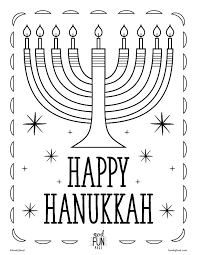 chanukah coloring pages page happy colouring 6 menorah with lit story