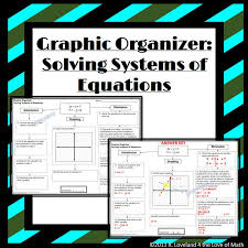 solving systems of equations basic graphic organizers