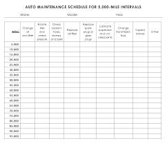 Car Service Record Template Automobile Repair Log Template Auto Maintenance Spreadsheet