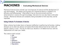 mechanical equipments list 36 machines evaluating mechanical devices mechanical equipment list
