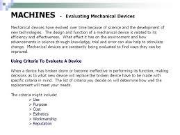 mechanical equipments list 36 machines evaluating mechanical devices mechanical equipment list