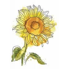 Cross Stitch Pattern Lovely Sunflower